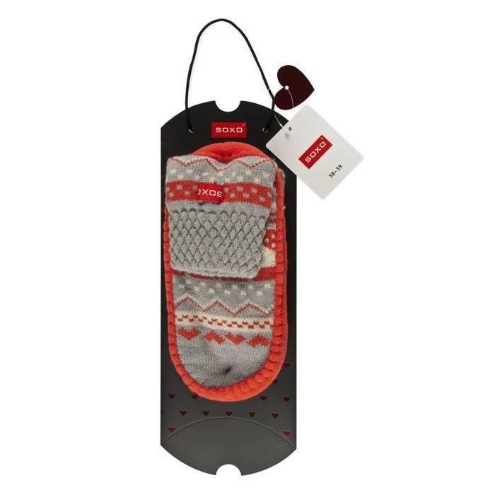 Pantuflas SOXO de punto con el bolso de regalos MUJERES \\ Pantuflas ...