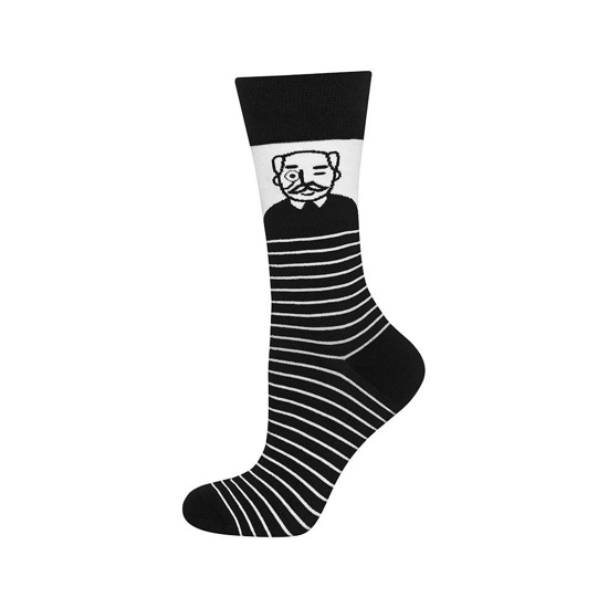 Good Stuff Men calcetines 'Abuelo' blanco y negro