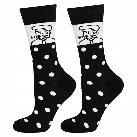 Good Stuff Men calcetines 'Runner' blanco y negro